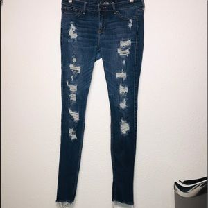 Hollister Stretch High-Rise Suoer Skinny Jeans 11